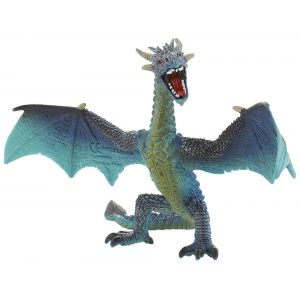Bullyland Figurine Dragon flying turquoise.
